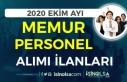 2020 Ekim Ayı Kamuya Personel ve Memur Alımı İlanları!...