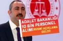 Adalet Bakanlığı 10 Bin Personel Alımı Resmi...