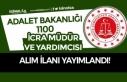 Adalet Bakanlığı 2020 Yılı 1100 İcra Müdür...