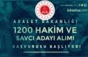 Adalet Bakanlığı 1200 Hakim ve Savcı Adayı Alımı...