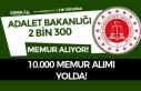 Adalet Bakanlığı 2300 Kamu Personeli Alıyor! 10...
