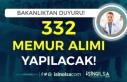 Bakanlık Yayımladı! Memur KPSS A-B 332 Memur Alınacak...