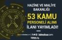 Hazine ve Maliye Bakanlığı 2020 Yılı 53 Kamu...