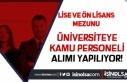 Kayseri Üniversitesi KPSS 50 Puan İle 13 Kamu Personeli...