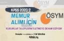 KPSS 2020/2 İle Memur Alımı Tercihleri İçin Kurumların...