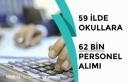 MEB 59 İlde Okullara 62 Bin Personel Alımı Yapıyor!...