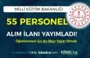 MEB Öğretmenevine En Az Okur Yazar Olan 55 Personel...