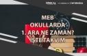 MEB Okullarda 1. Ara Tatil Ne Zaman Olacak ve Kaç...
