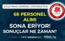 Süleyman Demirel Üniversitesi 68 Personel Alımı...
