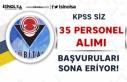 TÜBİTAK KPSS Siz 35 Personel Alımı Yapacak! Başvurular...