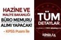 Maliye Bakanlığı KPSS Puanı İle Büro Memuru...