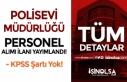Polis Evi Müdürlüğüne İŞKUR Üzerinden Lise...
