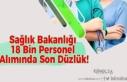 Sağlık Bakanlığı 18 Bin Personel Alımında Son...