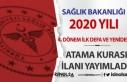 Sağlık Bakanlığı 2020 Yılı 4. Dönem İlk Defa...