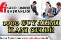 Türkiye Geneli 1000 GUY Alımı İlanı Geldi! Gelir...
