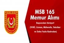 Milli Savunma Bakanlığı (MSB) 165 Memur Alımı Başvuruları Sürüyor! (VHKİ, Uzman, Mühendis, Tekniker ve Daha Fazla Kadrodan)