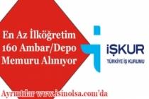 En Az İlköğretim 160 Ambar/Depo Memuru Alımı Yapılıyor