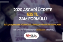 2020 Asgari Ücrete 625 TL Zam