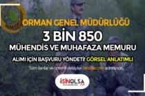 OGM 3 Bin 850 Mühendis ve Muhafaza Memuru Alımı Başvuruları! ( Görsel Anlatım )