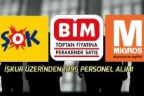 BİM, Şok Mağazaları ve Migros İŞKUR Üzerinden 1095 Personel Alımı Yapacak!