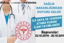 Sağlık Bakanlığı 2019 Yılı Yeniden Atama Kurası İlanı Yayımlandı