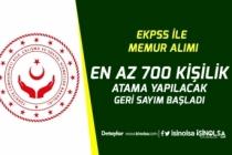 EKPSS ile Memur Ataması İçin Geri sayım Başladı! En Az 700 Personel Alınacak!