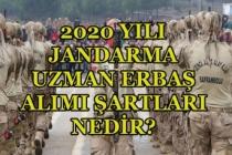 Jandarma 2020 Uzman Erbaş Alımı Başvuru Şartları