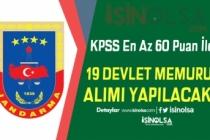 Jandarma KPSS En Az 60 Puan İle Açıktan 19 Devlet Memuru Alacak!