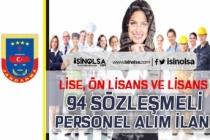 Jandarma Lise, Ön Lisans ve Lisans Mezunu 94 Sözleşmeli Personel Alımı