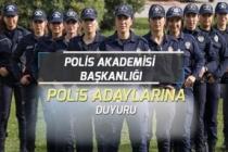 Polis Akademisi PAEM İçin Polis Adaylarına Duyuru Açıkladı!
