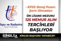 Tapu ve Kadastro 125 Büro Memuru ve Kamu Personeli Alımı Başlıyor!