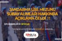 Jandarma Lise Mezunu Subay Astsubay Alımı Hakkında Açıklama Geldi!