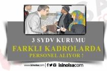 3 SYDV Sosyal Yardım İnceleme Görevlisi, Yardımcı Hizmet Görevlisi Alacak!