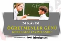 MEB 24 Kasım Öğretmenler Günü Genelgesi Yayınladı!