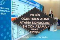 MEB 20 Bin Öğretmen Atama Sonuçları! Sorgulama Ekranı! En Çok Atama Olan Branş!
