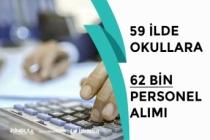 MEB 59 İlde Okullara 62 Bin Personel Alımı Yapıyor! İŞKUR Üzerinden!