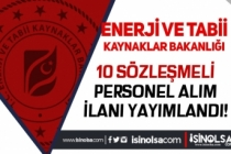 Enerji ve Tabii Kaynaklar Bakanlığı 10 Sözleşmeli Personel Alımı Yapacak