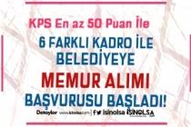 KPSS 50 Puan İle Belediyeye Personel ve Trafik Memuru Alımı Başvuruları Başladı!