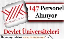Devlet Üniversiteleri 147 Personel Alımı Yapıyor!