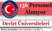 Üniversiteler136Personel Alımı Yapacak
