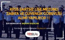 İstanbul Sultangazi Belediyesi KPSS Şartsız, Lise Mezunu 60 Zabıta ve Güvenlik Görevlisi Alıyor