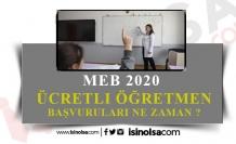 2020-2021 Ücretli Öğretmenlik Başvuruları Ne Zaman?