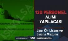 Süleyman Demirel Üniversitesi 130 Sağlık ve Hastane Personeli Alımı Yapacak!