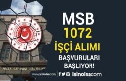 Milli Savunma Bakanlığı 1072 İşçi Alımı Başlıyor!...