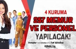 Üniversite, Belediye ve Kamu Kurumuna 257 Personel...