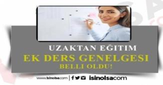 MEB Ek Ders Genelgesi Yayınladı!
