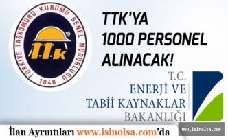Türkiye Taşkömürü Kurumu TTK'YA 1000 Personel Alımı Yapılacak!