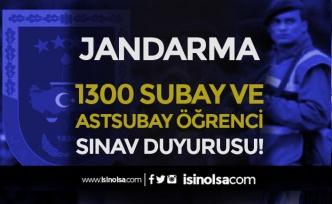 Jandarma 1300 Subay ve Astsubay Alımı Öğrenci Temin Sınav Çağrısı Duyurusu