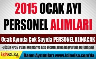 2015 Ocak Ayı Personel Alımları