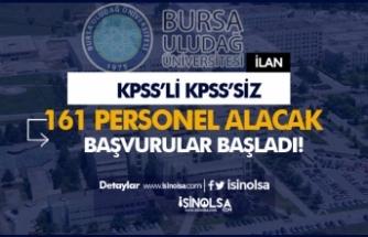 Bursa Uludağ Üniversitesi KPSS'li KPSS'siz 161 Sözleşmeli Personel Alımı